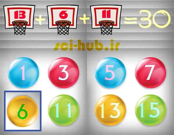 جواب معمای سه عدد توپ را انتخاب کنید